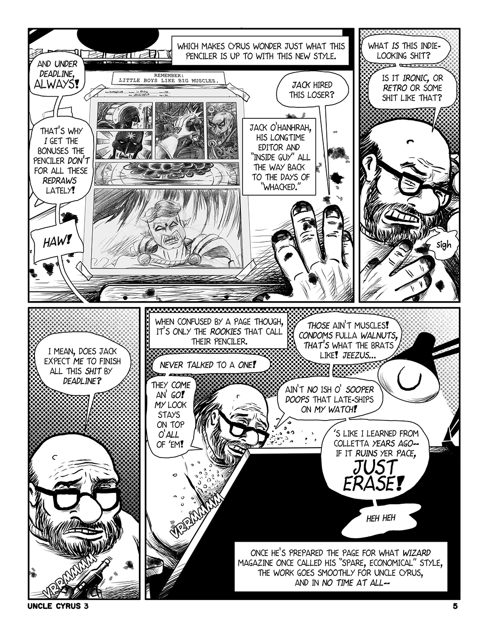 "Uncle Cyrus in ""Deadliney Doom!"", Page 5"