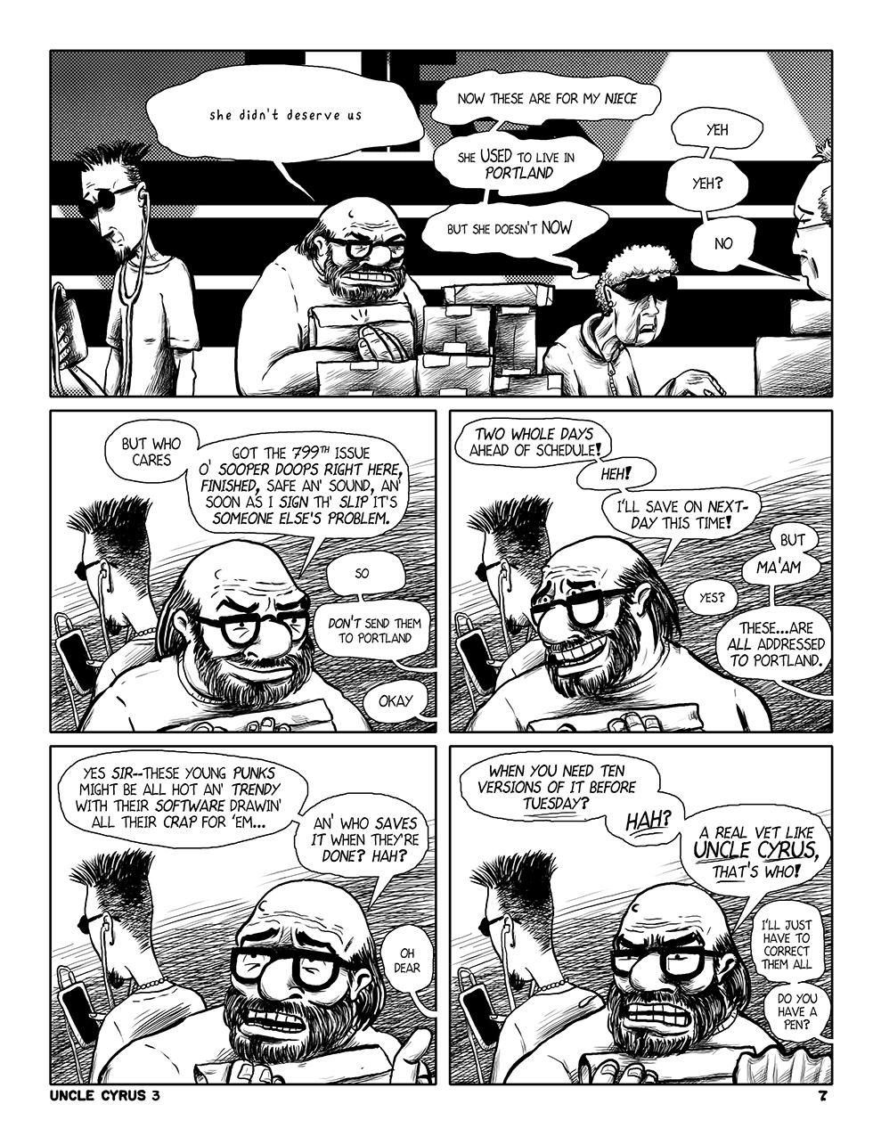"Uncle Cyrus in ""Deadliney Doom!"", Page 7"