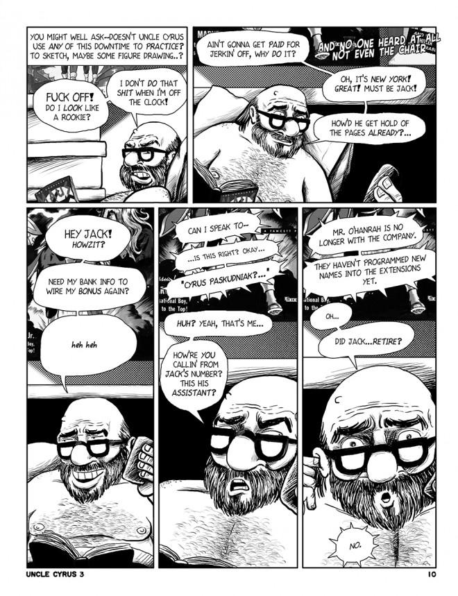 "Uncle Cyrus in ""Deadliney Doom1"", page 10"